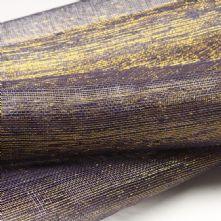 Dark Violet with Gold Thread Sinamay